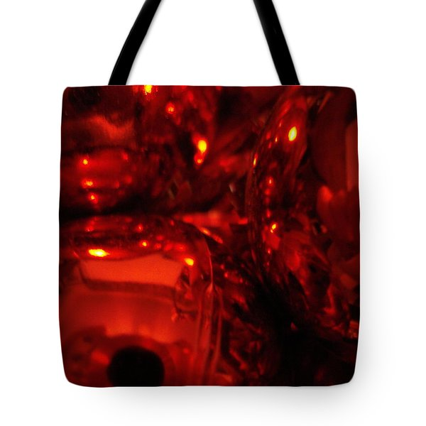 Shiney Red Ornaments One Tote Bag