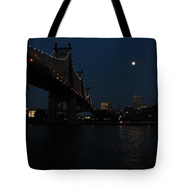 Shining Moon Tote Bag by Catie Canetti