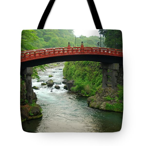 Shinkyo In Nikko Tote Bag by Jonah  Anderson