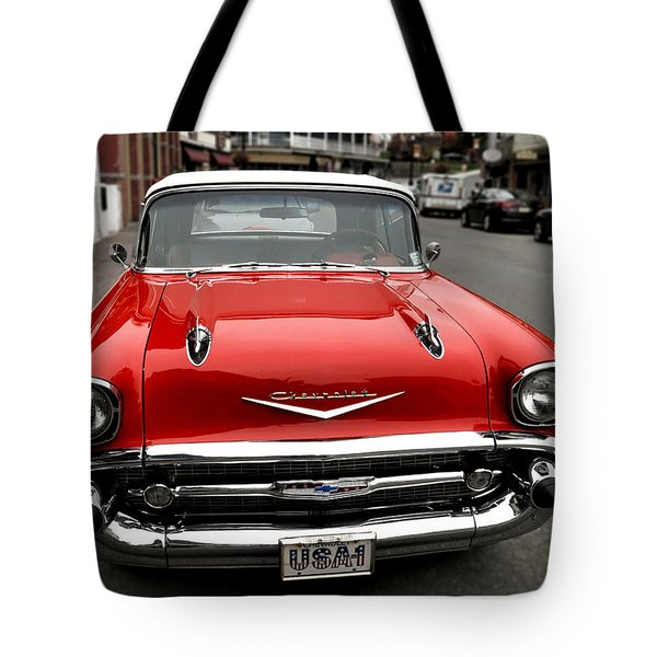 Shiny Red Chevrolet Tote Bag
