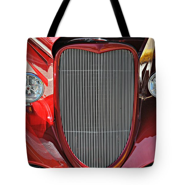 Shiny Red Tote Bag by Marty Koch