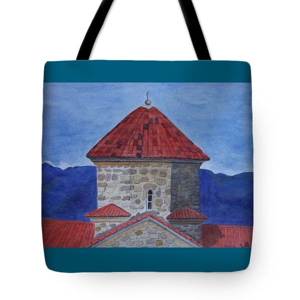 Shio Mgvime Monastery In Rep. Of Georgia Tote Bag