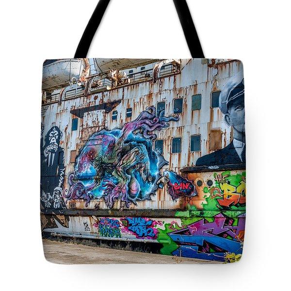 Ship Art Tote Bag