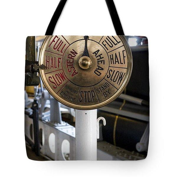 Ship Control Telegraph Tote Bag by Steven Ralser