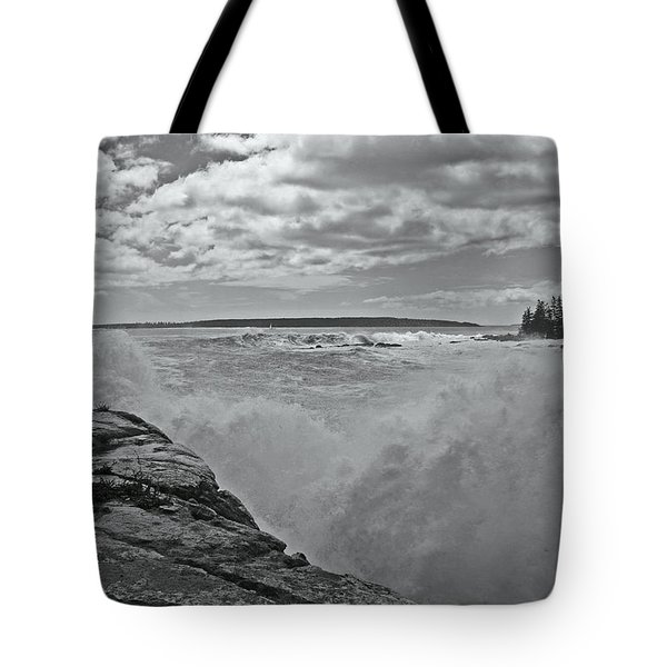 Ship Harbor Rouge Wave Tote Bag by David Rucker