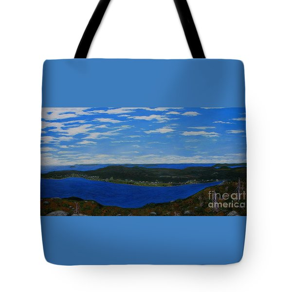 Ship Harbour From Sugarloaf Hill Tote Bag by Barbara Griffin