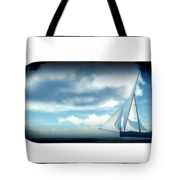 Tote Bag featuring the digital art Ship In Bottle... by Tim Fillingim
