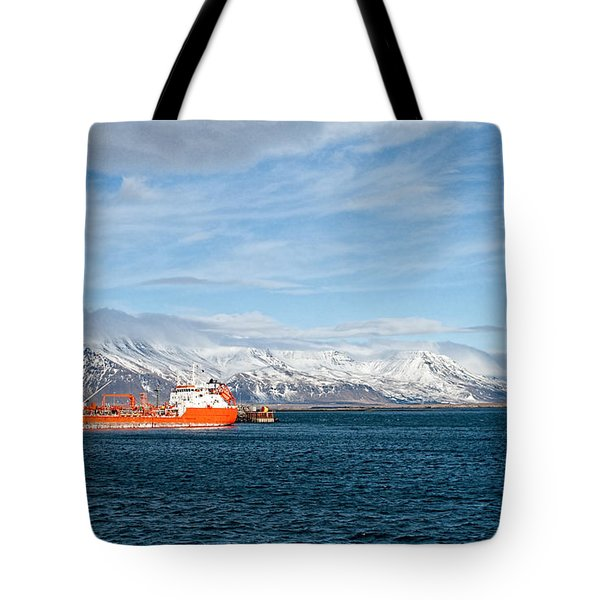 Ship In The Old Harbor II Tote Bag