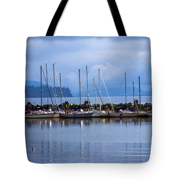 Tote Bag featuring the photograph Ship To Shore by Jordan Blackstone