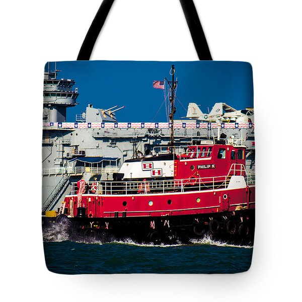 Shipping Lane Hero Tote Bag