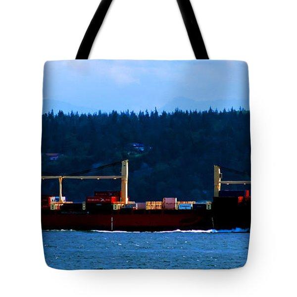 Shipping Lane Tote Bag