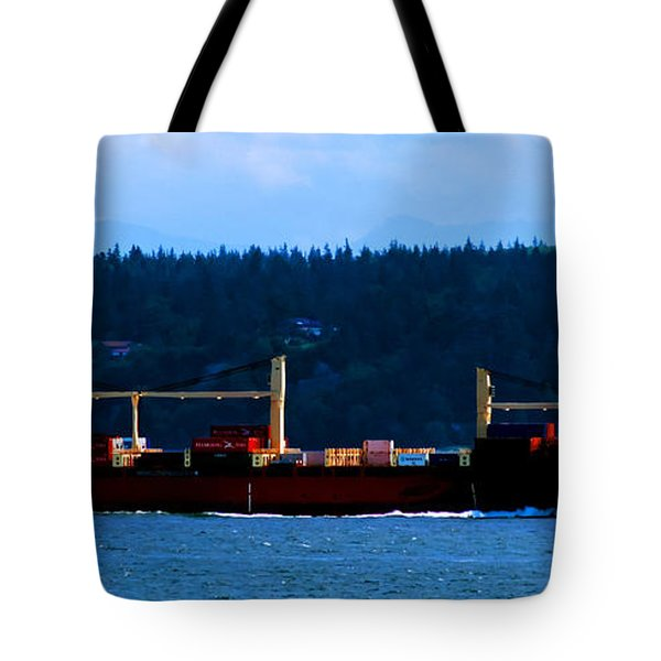 Shipping Lane Tote Bag