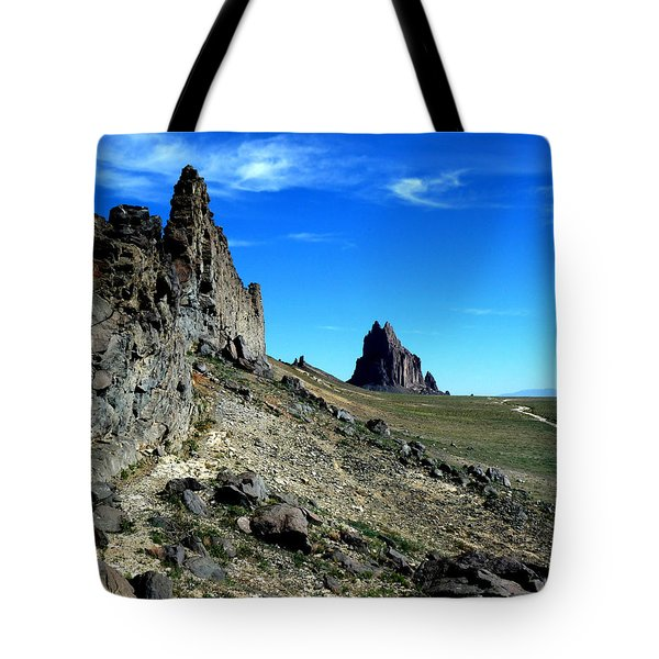 Tote Bag featuring the photograph Shiprock by Alan Socolik