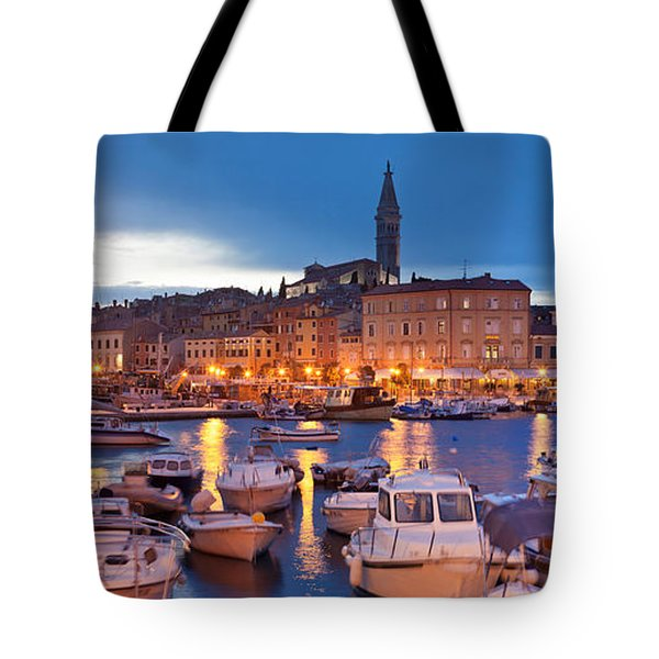 Ships And Boats At The Harbor Tote Bag