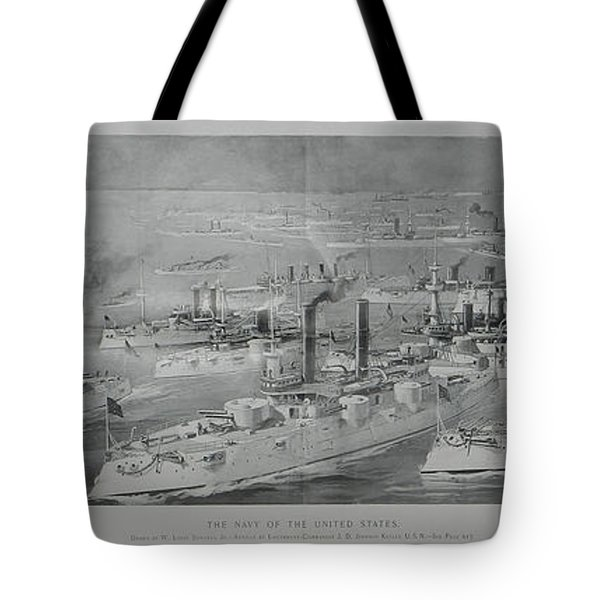 Tote Bag featuring the digital art Ships by Cathy Anderson