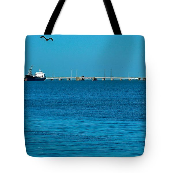 Ships  In Harbor Tote Bag