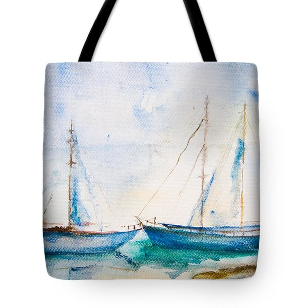 Ships In The Sea Tote Bag