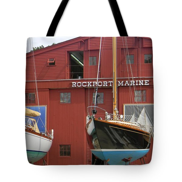 Ships In Waiting Tote Bag by Jean Goodwin Brooks