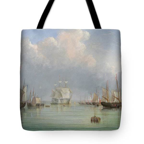 Ships Off Ryde Tote Bag by Arthur Wellington Fowles