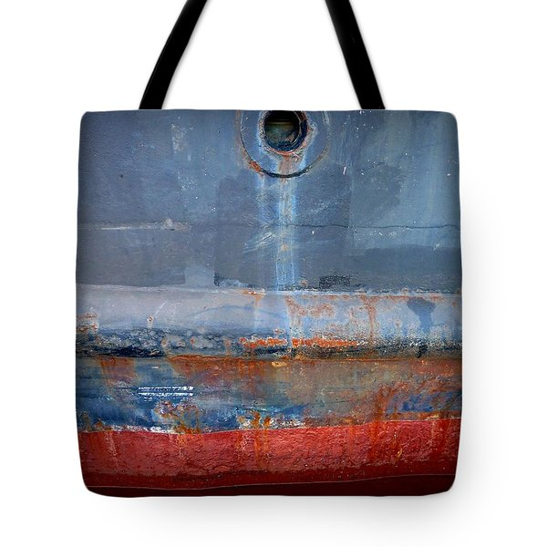 Shipside Abstract II Tote Bag by Patricia Strand