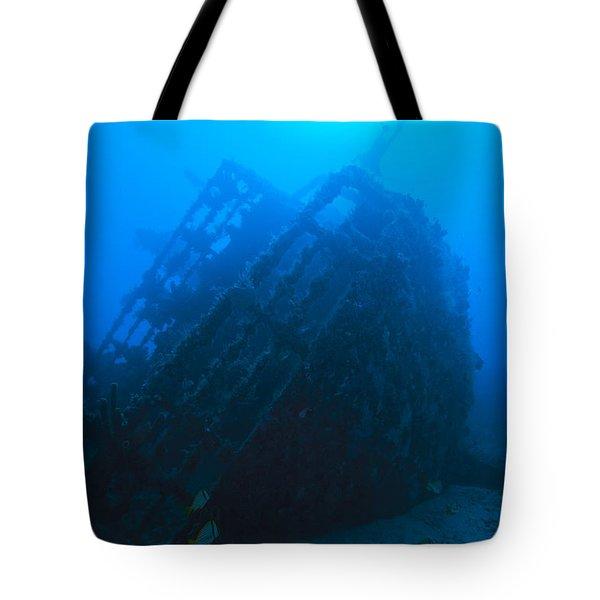 Shipwreck On Govenors River Walk Tote Bag