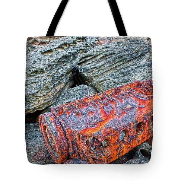 Tote Bag featuring the photograph Shipwrecked ? by Miroslava Jurcik