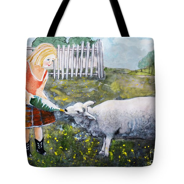 Shirley And Curly Tote Bag by Barbara McMahon