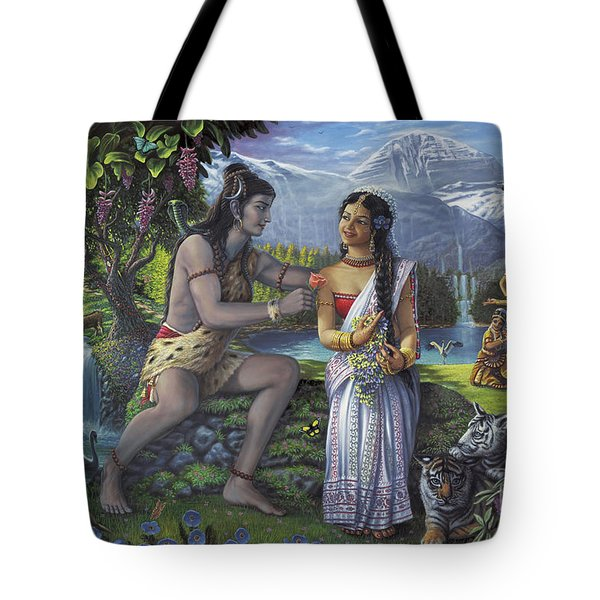 Shiva And Parvati Tote Bag