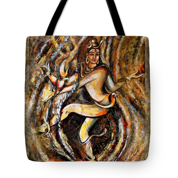 Tote Bag featuring the painting Shiva Eternal Dance by Harsh Malik