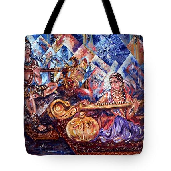 Shiva Parvati Tote Bag by Harsh Malik