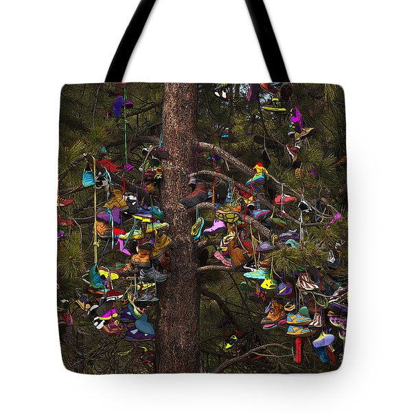 Shoe Shrine Tote Bag by Sandi Mikuse