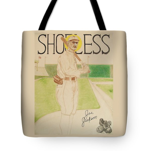 Tote Bag featuring the painting Shoeless Joe Jackson by Rand Swift