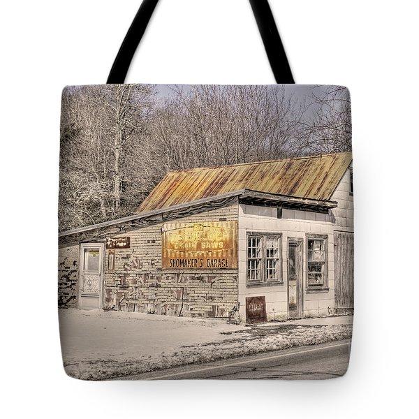 Shoemaker's Garage Tote Bag by Benanne Stiens