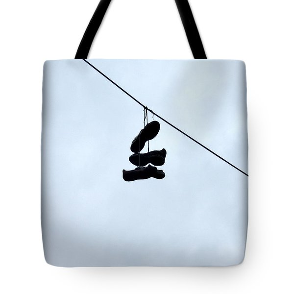 Shoes On The Line Tote Bag
