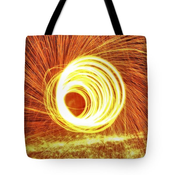 Shooting Sparks Tote Bag by Dan Sproul