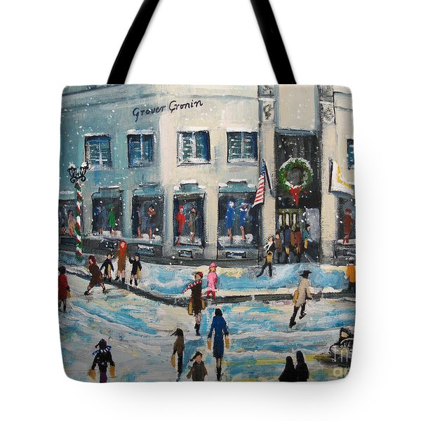 Tote Bag featuring the painting Shopping At Grover Cronin by Rita Brown