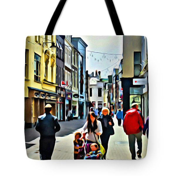 Tote Bag featuring the photograph Shopping by Beauty For God