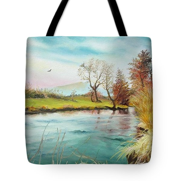 Shore Of The River Tote Bag