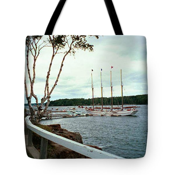 Tote Bag featuring the photograph Shore Path In Bar Harbor Maine by Judith Morris