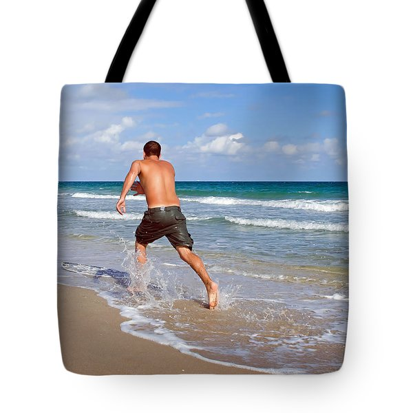 Tote Bag featuring the photograph Shore Play by Keith Armstrong