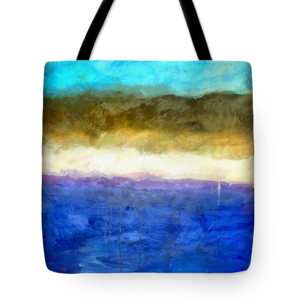 Shoreline Abstract Tote Bag