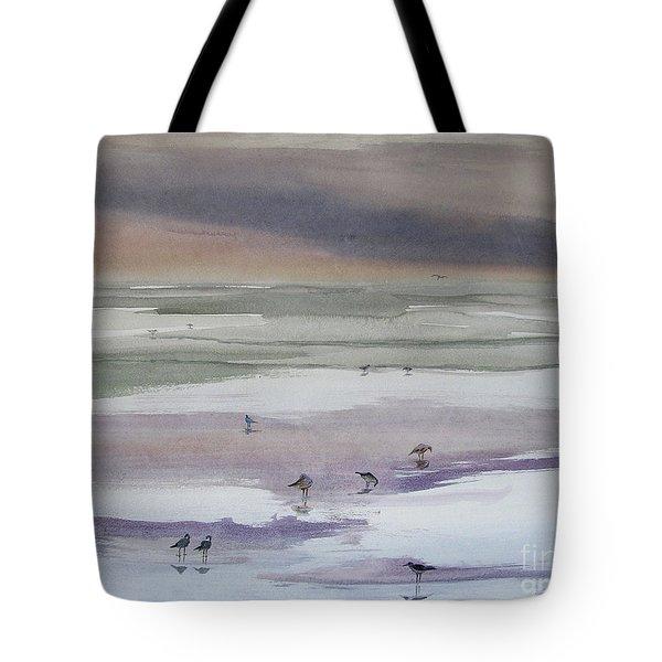 Shoreline Birds II Tote Bag