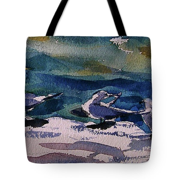 Shoreline Birds Iv Tote Bag