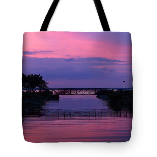 Shoreline Park At Dusk Tote Bag