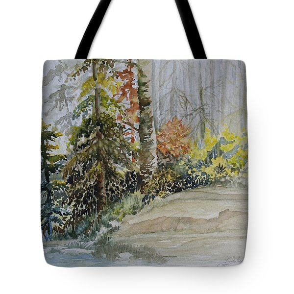 Shoreline Sketch Tote Bag