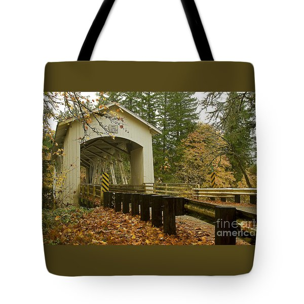 Short Covered Bridge Tote Bag
