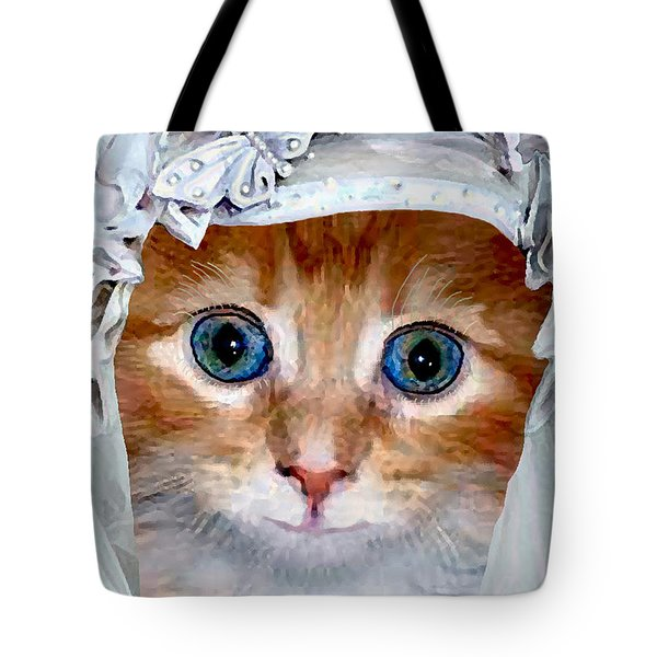 Shotgun Bride  Cats In Hats Tote Bag