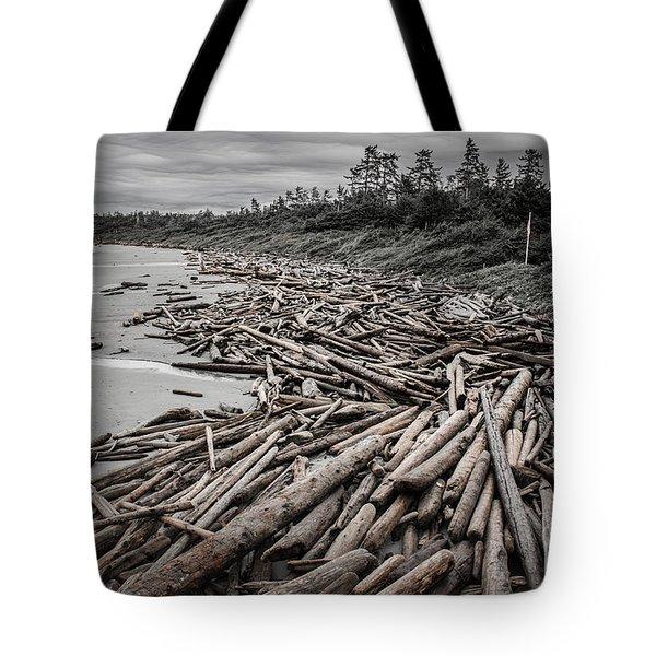 Shoved Ashore Driftwood  Tote Bag