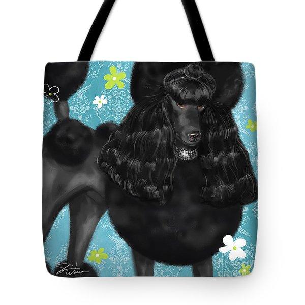 Show Dog Poodle Tote Bag