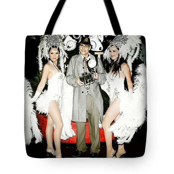 Showgirls And Photographer With Polaroid Tote Bag by Nina Prommer